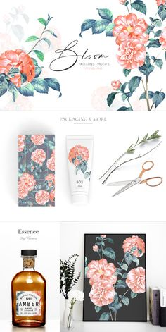 Bloom, is an exquisite hand painted watercolour design in vibrant and beautiful shades of colors. Graphic Design Pattern, Graphic Patterns, Cool Patterns, Pattern Illustration, Graphic Illustration, Paper Bag Design, Modern Color Palette, Watercolor Invitations, Watercolor Design