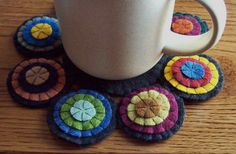 antique wool penny rugs | Primitive Penny Rug