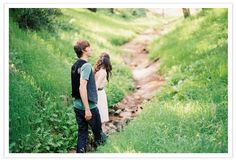 Loving this camping themed engagement session via 100 Layer Cake