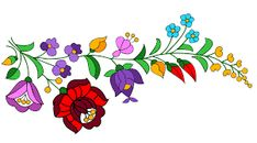 Hungarian Embroidery Stitch Hungarian fancy work sample 1 by on deviantART - Hungarian Embroidery, Folk Embroidery, Embroidery Stitches, Embroidery Patterns, Folk Art Flowers, Flower Art, Arte Popular, Chain Stitch, Sewing Crafts