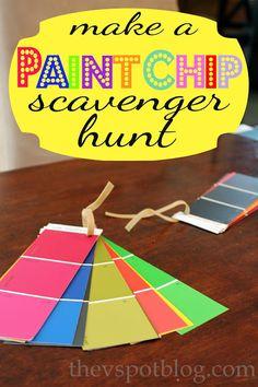 A paint chip scavenger hunt.