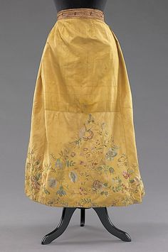 Underskirt (image 1) | Czech | fourth quarter 18th century | silk, cotton, metal | Brooklyn Museum Costume Collection at The Metropolitan Museum of Art | Accession #:  2009.300.2972