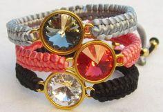DIY Jewelry: swarovski macrame