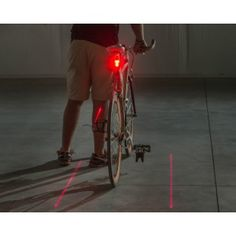 Luz laser led para bici
