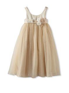 US Angels Girl's Satin Empire Dress at MYHABIT