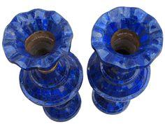 Exclusive Royal blau echt Lapis Lazuli Vase Prunkvase Blumenvase Afghanistan www.kabul-art.com
