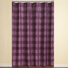Shower Curtains Product   ... Stripe Purple Shower Curtain Shower Curtains at Linens 'n Things