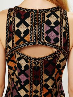phulkari embroidered shift dress by Free People Indian Dresses, Indian Outfits, New Outfits, Kurta Designs, Saree Blouse Designs, Indian Attire, Indian Wear, Kurti Patterns, Indian Fashion