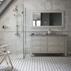 Slight Bevel, Diamond Sawn Edge, Honed - Bridgehampton Marble - Wall & Floor Tiles Wet Room Bathroom, Bathroom Plans, Bathroom Flooring, Bathroom Interior, Bathroom Ideas, Industrial Bathroom, Family Bathroom, Basement Bathroom, Master Bathroom