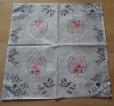 Floral Napkins For Decoupage Peony Motif Napkins Paper Napkins Tea Party napkins Napkins For Collage Scrapbooking Paper Kraft by GracesLaces on Etsy