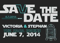 Star Wars Save-The-Date card.  Ask us about our design services.  $15 designs!