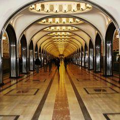 'Mayakovskaya' Moscow metro station