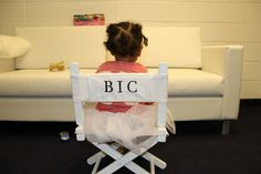 BIC in charge. Beyonce posted a new pic of BIC in her mini director's chair, how cute!