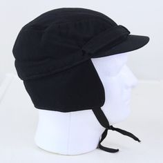 700dfd1fb5f Dartmouth College Coop Vintage 1950s Ski Hat Black Wool Blend Ear Flaps