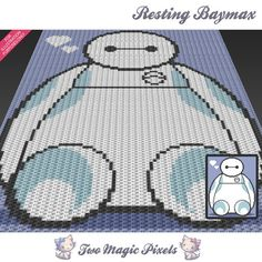 Resting Baymax Disney Big Hero 6 inspired c2c by TwoMagicPixels