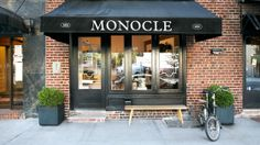 The Monocle Shop in the West Village. Sells accessories, clothing, gifts, interior decor, magazines, prints, music & fragrances.