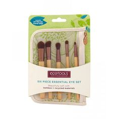 Ulta--EcoTools 6 Piece Essential Eye Brush Set: Beauty I have this and it's my holy grail eye brushes. The only ones you need for any look Eye Makeup Brushes, Makeup Brush Set, Makeup Sets, Highlighter Brush, Eyeliner Brush, Brush Sets, Cruelty Free, Smudging, Makeup Products