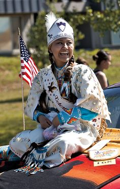 """The Yakama Nation's annual Treaty Days parade in Toppenish, Washington. The theme of the parade, which recognizes the Treaty of 1855, is """"One Family, One Nation, Preserving Our Culture Through Generations."""""""