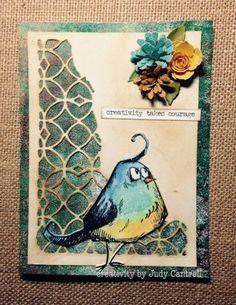 Stamped Impressions: Crazy Bird Card