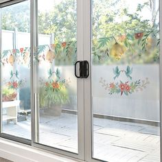 Cheap frosted glass film, Buy Quality decorative films directly from China glass film Suppliers: Window stickers glass stickers sunscreen frosted glass film sliding door balcony transparent opaque decorative film -68