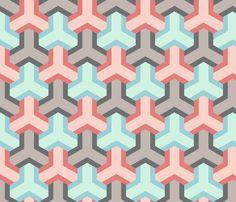 chevron 3 hexes fabric by sef on Spoonflower - custom fabric
