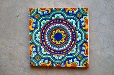 124 piastrelle Talavera dipinte a mano 4 X 4 di MexicanTiles