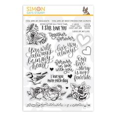 New from our Good Vibes collection. Simon Says Stamp clear stamps are high quality photopolymer and made in the USA. The stamp set measures 6 inches x 8 inches. This stamp coordinates beautifully with the Strangeness wafer die set. I Still Love You, Love Always, Simon Sez, Simon Says Stamp Blog, Hey Love, Digi Stamps, Card Kit, My Stamp, Clear Stamps