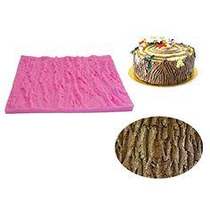Wocuz WZ1223 Tree bark Shape Silicone Mold Fondant Mold Cupcake Cake Side Decoration Tool *** New offers awaiting you  : Bakeware