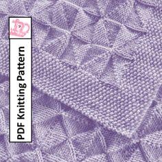 PDF Knitting Pattern – Windmills and Pinwheels reversible Baby Blanket/throw/afghan 26 x 36