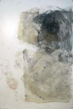 madeline denaro Wax/charcoal drawings  beeswax, gauze, charcoal on paper