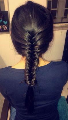 Simple french fishtail braid  #braidlove #EverydayHair #HairstylesByAatmi