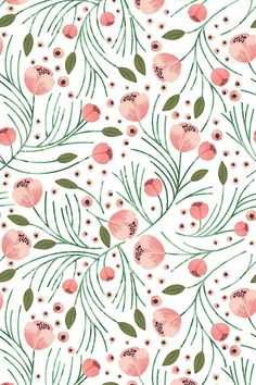 Winter floral pine design by indie designer shopcabin. This pattern is beautiful as fabric, wallpaper, and gift wrap! Click to see more color and size options. #floral #weddingfloral #weddingflowers #wallpaper #craft #sewing #diy #designer #flowers #handpainted #makeit #sew
