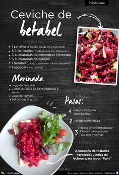 Hábitos Health Coaching | CEVICHE DE BETABEL
