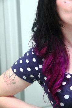 purple ombre...I want to do this so bad but don't have the balls. I love it!!!