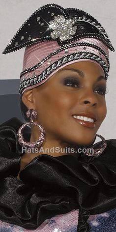 d0da8af921b6d Womens Donna Vinci Special Occasion First Lady Church Hat in Black and  Mauve…