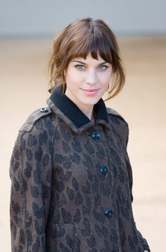 Pin for Later: Fringespiration! 50 Celebrity Fringe Hairstyles to Inspire Your New Cut Alexa Chung Alexa's short fringe is bang on trend (no pun intended) and shows off her feline features.