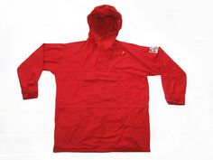 Rare Vintage 90s   Norrona Sport Rare  Cotton Anorak Hooded Jacket Red sz Large by VapeoVintage on Etsy