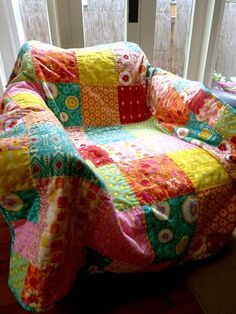 Lulu Carter: Quilting I need to do this with my glider