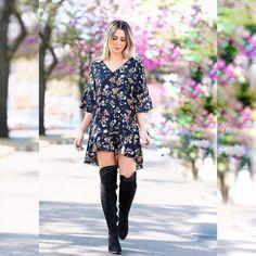 AMAMOS! #repost -- @laisrasera -- vestido maravilhoso @clubsamea  #overtheknee @tanarabrasil by @originalcalcados  não sei o que amo mais o vestido ou a bota! Ps: rodeio chegando e essa bota maravilhosa tem um preço incrí! Não percam!