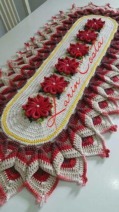 resultado de imagen para mas imagenescaminos de mesa a crochet en colores - PIPicStats