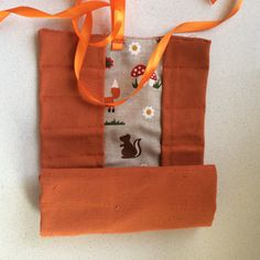 Orange with foxes Waldorf crayon case for Stockmar by UrbanWaldorf