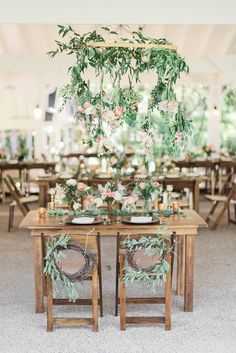 Greenery Wedding Ideas That Are Actually Gorgeous---spring wedding centerpieces with greenery, botanical orgainc wedding ideas, spring wedding decorations, blush wedding flowers, wedding tables Rustic Wedding Reception, Boho Wedding, Wedding Venues, Wedding Bride, Table Wedding, Dream Wedding, Forest Wedding, Spring Wedding, Wedding Ceremony