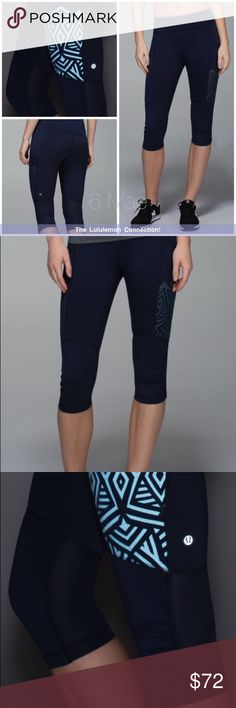 Lululemon Stash It Crop *NWT*!! Rare! sweat-wicking Luxtreme® fabric is cool to the touch and fits like a second skin added LYCRA® fibres for great shape retention Mesh panels help you stay cool plenty of zipperless pockets to stash your stuff reflective details help you stay visible when you're getting physical imported lululemon athletica Pants Leggings