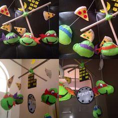 Ninja Turtles Mobile by CocoonMoon on Etsy, $55.00