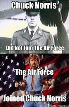 US Air Force finds 'awesome photo' of Chuck Norris 'while scouring the interwebs' | Twitchy