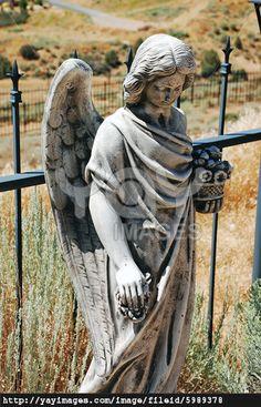 Sad angel statue