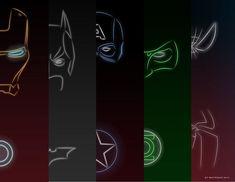 Super heróis NEON! :D