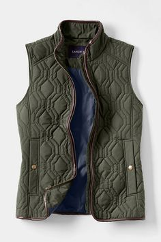 Women's Quilted PrimaLoft Vest from Lands' End