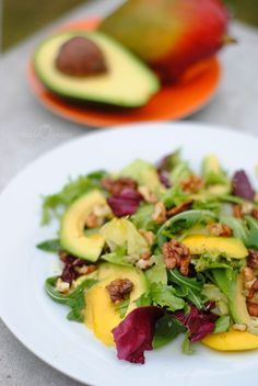 Sałatka z mango i awokado - Pasja Smaku Great Dinner Recipes, Healthy Dinner Recipes, Keto Recipes, Cooking Recipes, Healthy Food, Mango, Family Meals, Food Inspiration, Salad Recipes