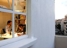Bold Design Transformed a rooftop machine room in Paris into a wonderful office with a view